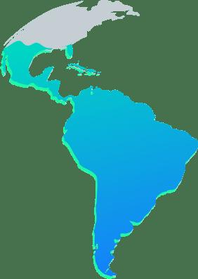 Mapa de cobertura Latam Network